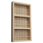 WG Wood Products Midland Premium Wall Mounted Spice Rack; 21'' H x 11'' W x 2.5'' D