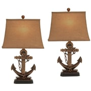 EC World Imports 27'' Table Lamp Set (Set of 2)