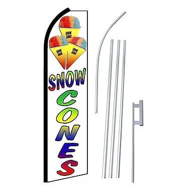 NeoPlex Snow Cones Swooper Flag and Flagpole Set