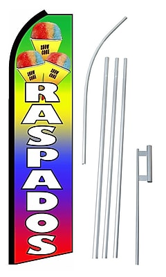 NeoPlex Raspados Swooper Flag and Flagpole Set WYF078279108063