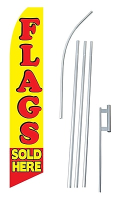 NeoPlex Flags Sold Here Swooper Flag and Flagpole Set