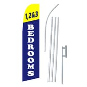 NeoPlex 1, 2 and 3 Bedrooms Swooper Flag and Flagpole Set