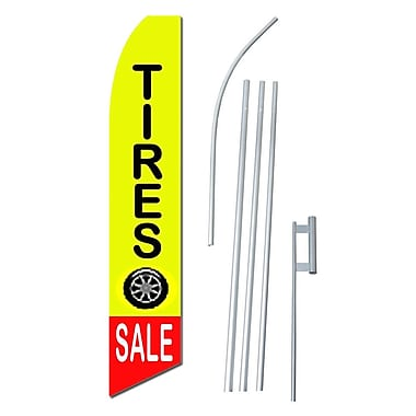 NeoPlex Tire Sale Swooper Flag and Flagpole Set