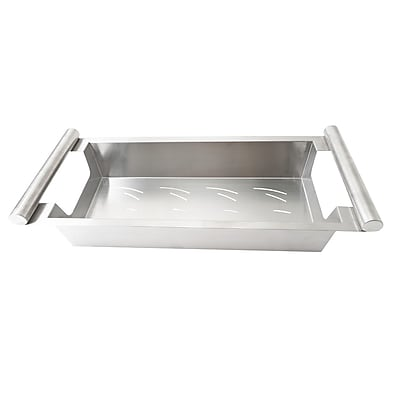 Boann Stainless Steel Kitchen Sink Colander; 4'' H x 8.5'' W x 20.5'' D