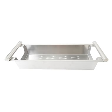 Boann Stainless Steel Kitchen Sink Colander; 4'' H x 8.5'' W x 22.5'' D