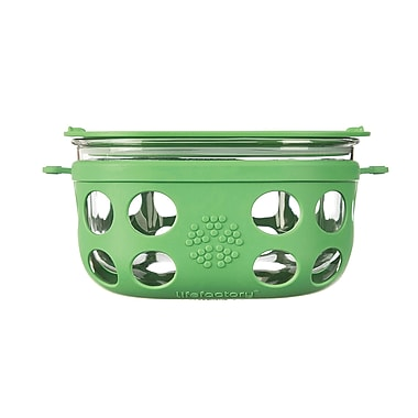 Lifefactory 32 Oz. Glass Food Storage; Grass Green