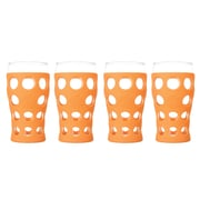 Lifefactory Everyday 20 oz. Juice Glass (Set of 4); Orange
