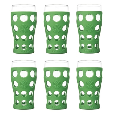 Lifefactory Everyday 20 oz. Juice Glass (Set of 6); Grass Green