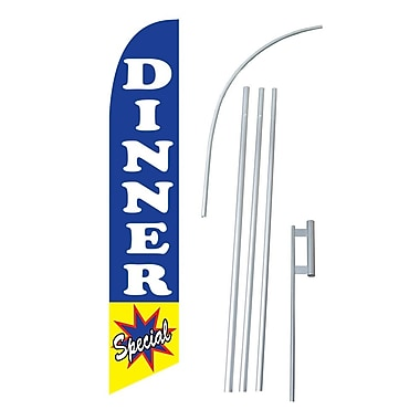 NeoPlex Dinner Special Swooper Flag and Flagpole Set