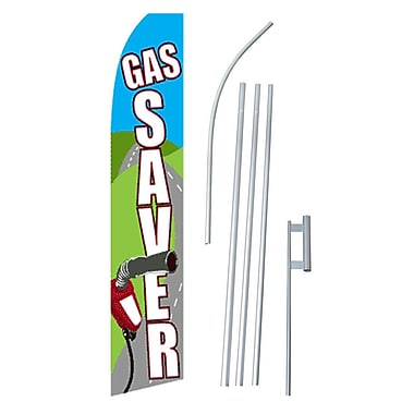 NeoPlex Gas Saver Swooper Flag and Flagpole Set
