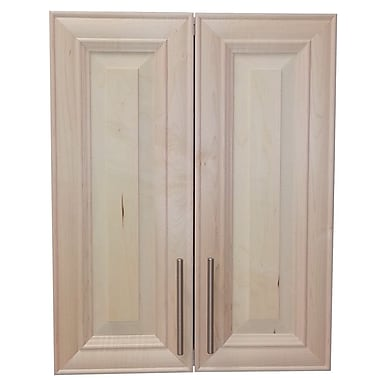 WG Wood Products Overton 21'' x 32'' Recessed Medicine Cabinet; Unfinished