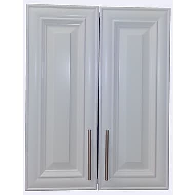 WG Wood Products Overton 21'' W x 21'' H Surface Mount Medicine Cabinet; White