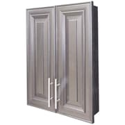 WG Wood Products Overton 21'' x 21''  Wall Mounted Cabinet; Black