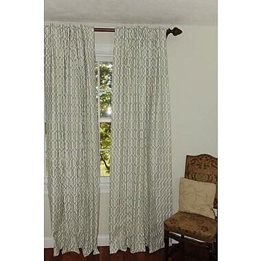 Art Home Klat Geometric Semi-Sheer Rod Pocket Single Curtain Panel