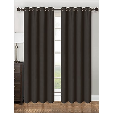 Kashi Home Parker Single Curtain Panel; Black