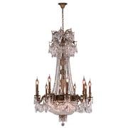 Worldwide Lighting Winchester 18-Light Crystal Chandelier; Antique Bronze