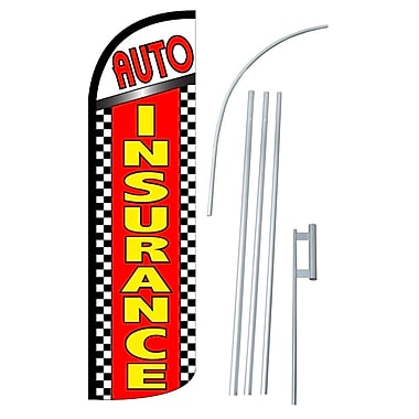 NeoPlex Auto Insurance Swooper Flag and Flagpole Set