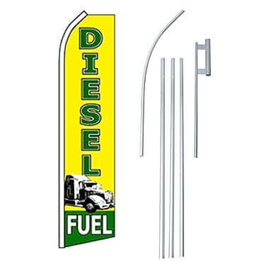 NeoPlex Diesel Fuel Swooper Flag and Flagpole Set