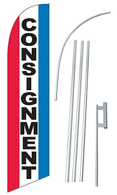 NeoPlex Consignment Swooper Flag and Flagpole Set