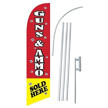 NeoPlex Guns and Ammo Sold Here Swooper Flag and Flagpole Set