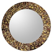 Novica Round Wall or Table Mirror w/ Glass Mosaic Frame