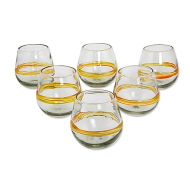 Novica Handblown Recycled 6 Piece 14 Oz. Water Glass Set (Set of 6)