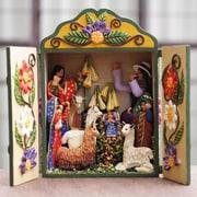 Novica Handmade Andean Retablo Nativity Scene