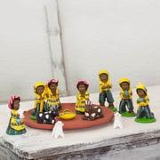 Novica 13 Piece Nativity Scene Figurine Set