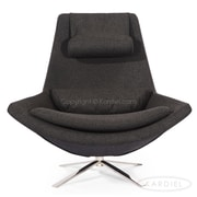Kardiel Retropolitan Lounge Chair; Charcoal