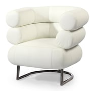 Kardiel Bibendum Leather Barrel Chair ; Arctic White