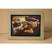Budd Leather Lizard Leather Picture Frame; Blue