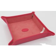 Budd Leather Leather Snap Tray; Raspberry