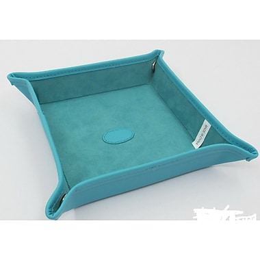 Budd Leather Leather Snap Tray; Teal