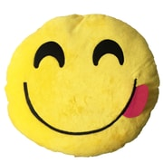 Creative Motion Smiley Face w/ Red Tongue Stick Out Emoji Sofa Cushion
