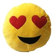 Creative Motion Smiley Face w/ 2 Heart Eyes Emoji Sofa Cushion