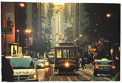Creative Motion 3D Painting 'Cable Car in San Francisco' Graphic Art on Canvas