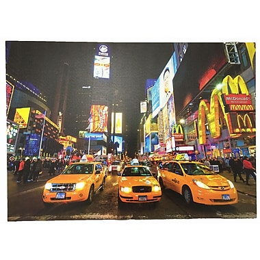 Creative Motion 3D Painting 'Taxi Cabs in NYC' Graphic Art on Canvas