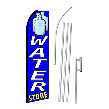 NeoPlex Water Store Swooper Flag and Flagpole Set