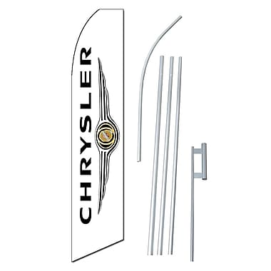 NeoPlex Chrysler Wings Vertical Swooper Flag and Flagpole Set
