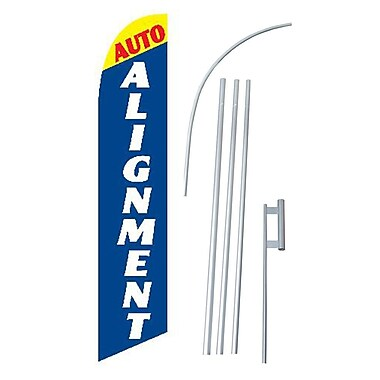 NeoPlex Auto Alignment Swooper Flag and Flagpole Set