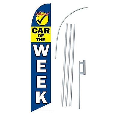 NeoPlex Car of the Week Swooper Flag and Flagpole Set