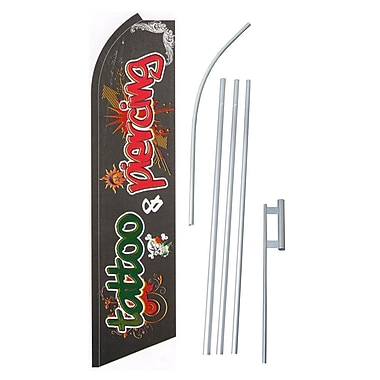 NeoPlex Tattoo Piercing Swooper Flag and Flagpole Set