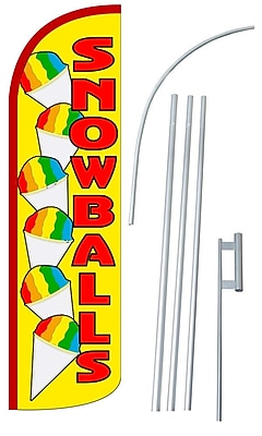 NeoPlex Snowballs Swooper Flag and Flagpole Set WYF078279108960