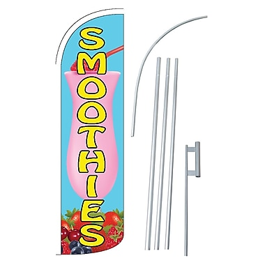NeoPlex Smoothies Swooper Flag and Flagpole Set