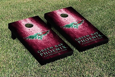 Victory Tailgate NCAA Metal Version Cornhole Game Set; Wisconsin Green Bay Phoenix WYF078278873659