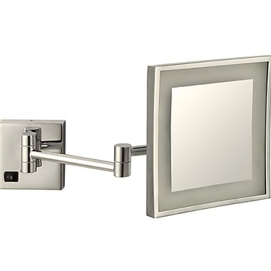 Glimmer by Nameeks Square Wall Mounted Makeup Mirror
