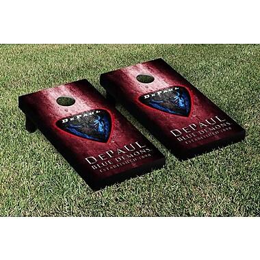 Victory Tailgate NCAA Metal Version Cornhole Game Set; DePaul Blue Demons