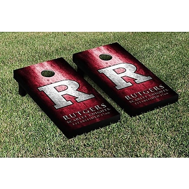 Victory Tailgate NCAA Metal Version Cornhole Game Set; Rutgers Scarlet Knights