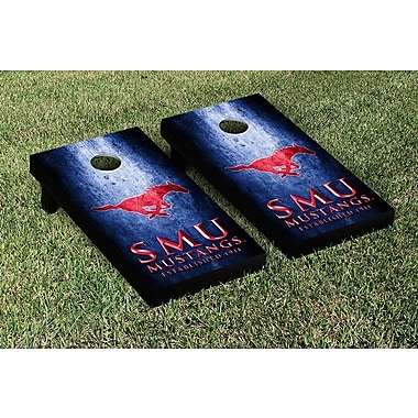 Victory Tailgate NCAA Metal Version Cornhole Game Set; Southern Methodist University SMU Mustangs