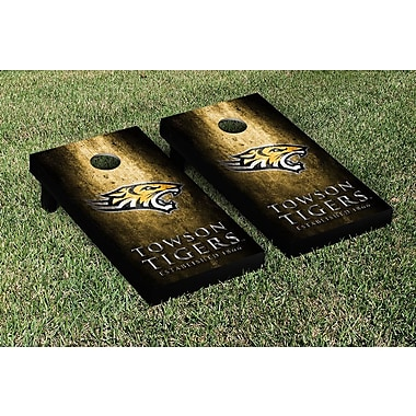 Victory Tailgate NCAA Metal Version Cornhole Game Set; Towson University Tigers